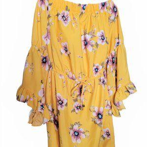 BLUSH  Off Shoulder Plus Size Mini Dress  NWOT